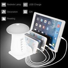 5Port USB Charging Station Dock Desktop Charger Night Light For iPad Phone iPod