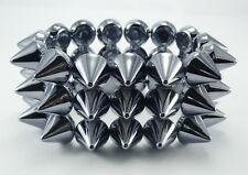 Smoking Grey Spikes Elastic Bracelet Bangles Bracelets Wristbands Punk Rock A35