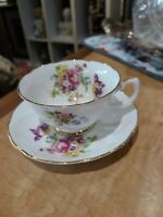 OLD ROYAL GRAFTON FINE BONE CHINA FLORAL WITH GOLD RIM CUP AND SAUCER ◇ENGLAND,