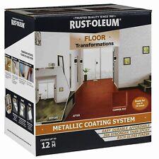 Rust-Oleum Floor Transformations Metallic Coating System Gloss Copper Pot 12sqm