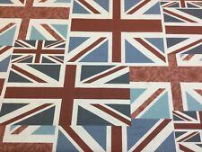 Fryetts Vintage Union Jack Cotton Fabric.Curtains/Upholstery/Craft/Cushions