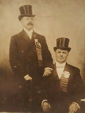 ANTIQUE CHICAGO WILLIAM JENNINGS BRYAN PRESIDENTIAL BUTTON 1908 RARE RPPC PHOTO