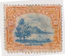 (GMA-17) 1902 Guatemala 10c blue &orange