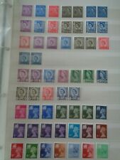 More details for great britain regionals 131 x stamps pre-decimal & decimal collection mnh mint