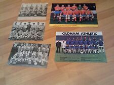 5 old oldham athletic football club team groups with free postage