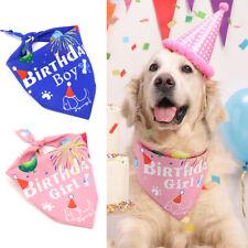 Dog Cat Bandana Collars Girl Boy Birthday Party Decoration Pet Neckerchief Scarf