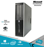 HP Elite 8200 SFF Business Computer 16GB CORE i5 HDD-SSD WINDOWS WiFi Desktop PC