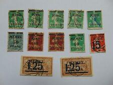 Lot Konvolut aus 12 Briefmarken Freimarken Memelgebiet (.) 1920-1923