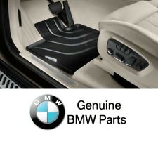 BMW F15 X5 2014 Front Black All Weather Rubber Floor Mats Genuine 51472347728