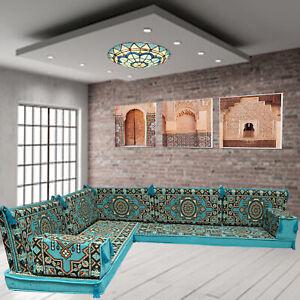 Majlis floor seating,corner sofa set,floor couch,bohemian furniture