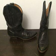 BOULET Canada Women's Black Leather Classic Western Cowboy Boots Size 5.5 C