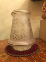 22 Antique French Art Nouveau Clair Satine Ceiling Glass Shades Pendel Lamps.