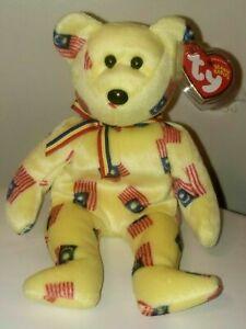 "Ty Beanie Baby - NEGARAKU the Malaysia Bear 8.5"" (Asia Pacific Exclusive) MWMT"