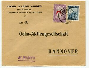 Turkey multifranked cover Istanbul to Hannover Germany 12.5.1930
