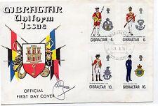 Gibraltar Uniformes Militares Sobre primer día año 1974 (DE-443)