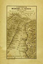 1908:Handbook  For Travellers=Topograf.Contorni MESSINA e REGGIO=Scala1:400000