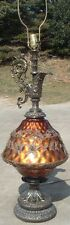 Huge Vintage Hollywood Regency Urn Lamps w Angel Glitz & Glamour #2 Buying One 1