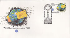 1983 World Communications Year FDC - Melbourne Vic 3000 Pictorial PMK