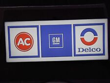 AC Delco Lighted Sign