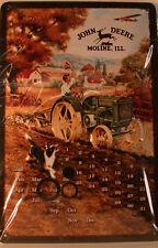 John Deere Moline - Dischi D' CANE - Nostalgia - OLD Targa di latta 20x 30 cm