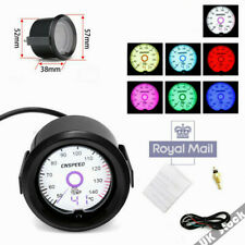 "12V 2""(52mm) Car Oil Temp 50-140 °C Temperature Gauge 12V -Colors LED Display UK"