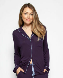 PYJAMA TOP ONLY Women Cyberjammies Sophie Revere Collar Long Sleeve Knit
