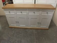 RUTLAND PAINTED 4 DOOR SIDEBOARD SOLID OAK TOP & PLINTH HANDMADE BESPOKE COLOUR