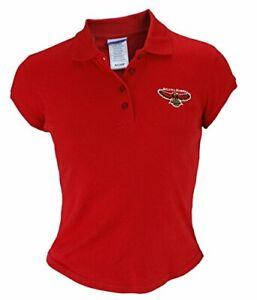 Reebok NBA Basketball Juniors Atlanta Hawks Cotton Polo Shirt, Red