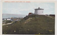 Saint John New Brunswick Postcard Martello Tower St John NB unused Valentine