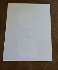 """Apple Mac Genuine Authentic White Logo 2"""" Sticker Decal - Set of 2 Laptop/Tower/"""
