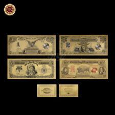 WR US Gold Banknote 1989/1901 $ 1 - $ 10 Dollar Set Indianer Kopf Büffel Eagle