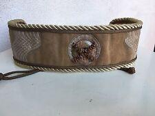 Vintage Wide Waist Belt 1980s Leather Suede Stones Rope Ties