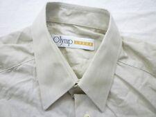 E7988 Olymp Luxor 253 64 21 Businesshemd Kombimanschette 39 grau meliert Uni