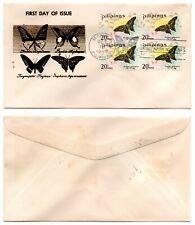 1969 PHILIPPINES FDC Cachet Butterflies Scott 1032 B/4 Value
