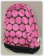 Wildkin Big Pink Dots Sidekick Kids' Backpack 2 pockets - Pink/brown/black NWT