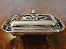 Butterdose Silber Luxus Antik Jugendstil Edel Stahl Butter Dose Glas Deckeldose