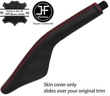 RED STITCH CARBON FIBER VINYL HANDBRAKE BOOT FOR PORSCHE 924 944 968 75-95