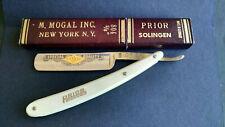 New Prior 804 Solingen 5/8 Straight Razor M. Mogal Inc. New York Made in Germany