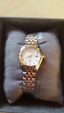 CITIZEN Eco Drive EU6054-58D LADIES' TWO-TONE CRYSTAL WATCH w/DATE