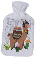 Wärmflache Lama / Alpaka weiss Bettflasche Wärmekissen Wärme Flasche Kissen ()