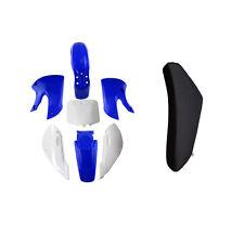 Blue Plastics Fenders Faring Kit & Tall Seat Kawasaki KLX 110 DRZ KX RM 65