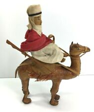 More details for vintage leather made camel with rider nativity prop