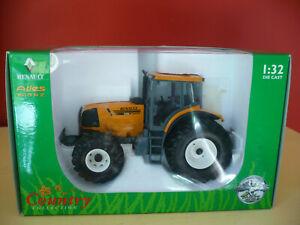 Tracteur RENAULT Atles 935RZ, ref 2200, UNIVERSAL HOBBIES échelle 1/32 + boîte