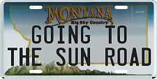 Going To The Sun Road Glacier National Park Montana Aluminum License Plate