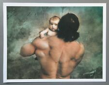 Jan Saudek Photo Kunstdruck Art Print 32x25cm St. Christopher 2003 Father & Son