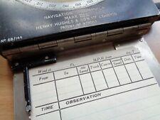 """WW2 RAF ORIGINAL Notepad Sheet for an """"Aircraft Navigation Computer"""". SHEET ONLY"""