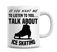 Ice skating Coffee Mug Funny Gift Christmas Office Secret Santa Present 068
