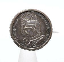 Münzbrosche 200 Jahre Preussen Wilhelm II. & Friedrich I. 2 Mark 1901 Silber