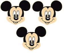 "Mickey Mouse Head Shot 3 1/2"" Tall Iron on Set of 3 PATCHES"