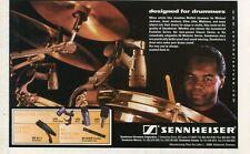 2000 small Print Ad of Sennheiser Drum Microphones w Jonathan Moffett